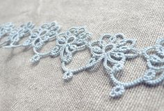 Tatting is a funny one. Really, I should be designing my own patterns by now. I am a designer, after all – and one that happens to love repeat patterns too. That said, I often think tatting f… Needle Tatting, Tatting Lace, Crochet Girls, Knit Crochet, Tatting Patterns, Crochet Patterns, Tatting Jewelry, Lace Making, Bobbin Lace