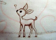 baby deer drawing - Google Search