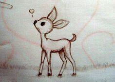 deer draw easy drawings drawing animal things cool simple deviantart kawaii sketch google fun cartoon sketches step visit fox disney
