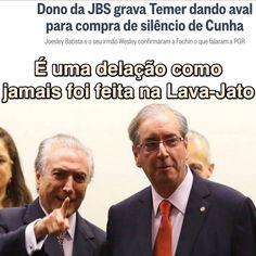 É uma delação como jamais foi feita na Lava-Jato [O Globo] https://oglobo.globo.com/brasil/dono-da-jbs-grava-temer-dando-aval-para-compra-de-silencio-de-cunha-21353935 ②⓪①⑦ ⓪⑤ ①⑦ #Temer