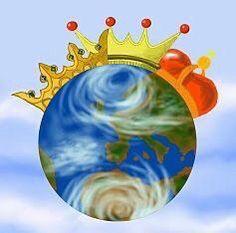 La tierra con las coronas de los reyes magos
