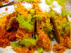 salsa/taco seasoning crockpot recipe... Great tacos!!