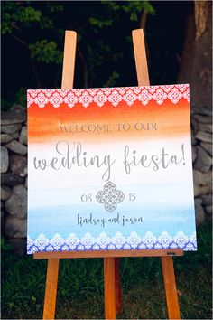 watercolor wedding sign #weddingsign @weddingchicks