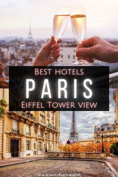 When you think of Paris, the Eiffel Tower automatically comes to mind, right? Paris hotels with an Eiffel Tower view are worth it for so many reasons. Imagine seeing the Eiffel Tower sparkle before you go to bed and waking up to it just outside your window?! Make your next trip extra memorable with my picks for the best hotels with a view of the Eiffel Tower in Paris. #paris #paristips #parishotels #paristravel #francetravel #bestparishotels Best Paris Hotels, Best Hotels, Paris Travel, France Travel, Visit France, Picture Postcards, Paris Paris, Paris Eiffel Tower, Beautiful Buildings