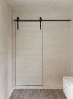 time of the aquarius: Sliding door with barn door fittings