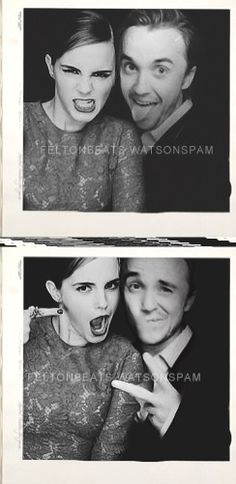 Tom and Emma Even though I hate how lots want Hermione and Malfoy together... This is a cute pic