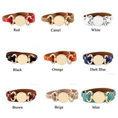 Rainbery 2016 New Style Monogram Leather Cuff Bracelet Hottest Sale Trendy With Blank Disk 3 Layer Wrap Leather Bracelet