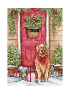 602 Best Golden Retriever Clipart Images In 2019 Christmas