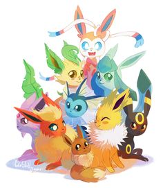 Eeveelutions 2.0 by CuteSkitty.deviantart.com on @deviantART