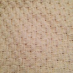 かぎ針 バスケット模様のブランケット・おくるみ 編み方&無料編み図