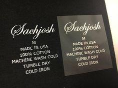 Custom Tagless Iron On Tranfer Labels Iron On Letters Heat