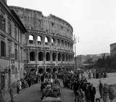 Allied Forces Reach Colosseum Rome Italy 1944