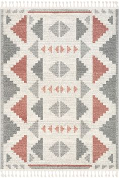"""Made of stain-resistant 100% polypropylene yarn. Tribal designs with detailed patterns and authentic colors. classic look with authentic cotton fringe. 0.4"""" pile height. Safe for wood floors. Durable and easy to clean. Use of a rug pad is recommended to extend the life of your rug and prevent shifting and sliding. split The Serenity Collection features classic Moroccan, tribal and Oriental styles woven in rich, natural-tone colors. Their neutral palette is accented with pops of color and distres Outdoor Rug Sale, Southwestern Area Rugs, Wool Area Rugs, Serenity, Moroccan, Rh Rugs, Blush, Tribal Designs, Neutral Palette"""