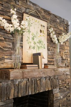 This is pretty damn amazing! LOVE the stone fireplace and rustic look! :) Life Is Just a Tire Swing: A Woodway, Texas Fixer-Upper Decor, Farmhouse Decor, Mantle Decor, Fixer Upper, Fireplace Mantel Decor, Home Decor, Fireplace, Magnolia Homes, Hgtv Fixer Upper