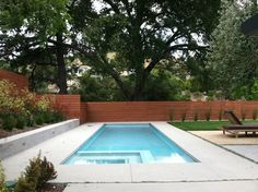 rectangular pools design with spa | rectangular pool with square spa