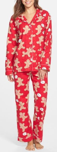 cute red gingerbread man flannel pajamas http://rstyle.me/n/tbytnr9te