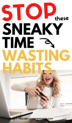 Can't figure out why you're not completing tasks? Always wondering where the day goes? Take a step back and pin point your time-wasting habits - I share 9 sneaky habits that could be hindering your productivity. Assistant Jobs, Virtual Assistant, Family Schedule, Personal Wellness, Stress Relief Tips, School Routines, Time Management Skills, Job Work, Productivity Hacks