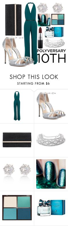 """""""Celebrate Our 10th Polyversary!"""" by patricia237 ❤ liked on Polyvore featuring Halston Heritage, Jimmy Choo, River Island, Gaia, Tom Ford, Tommy Hilfiger, MAC Cosmetics, polyversary and contestentry"""