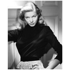 Lauren Bacall Remembered 6 Style Lessons From the Ultimate Screen... ❤ liked on Polyvore featuring lauren bacall