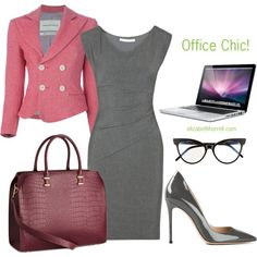 "Chic Professional Woman Work Outfit. ""Liz"" by elizabethhorrell on Polyvore"
