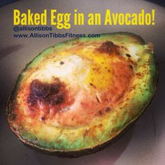 Here's a tasty and healthy breakfast idea! Baked Egg in an Avocado! #Delicious #Healthy #Amazing