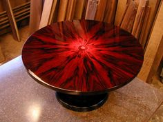 Complete Brazilian Rosewood Table. Talk About No Expenses Spared... Must  Have Cost