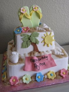 Beach Theme love this, wish I could make something like that for my own birthday!!
