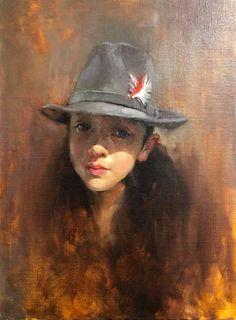 "Lisa Wang, Aria's portrait oil on canvas 18x24"""