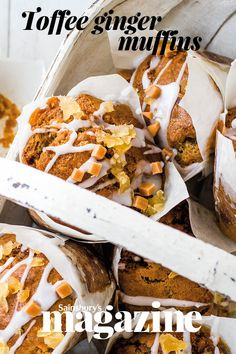 These delicious muffins make a gently spiced sweet treat, perfect for picnics Ginger Muffin Recipe, Muffin Recipes, Yummy Recipes, Breakfast Recipes, Yummy Food, Bake Boss, Irish Apple Cake, Natural Yogurt, Cookery Books