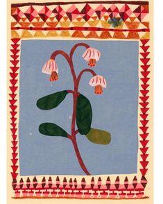 Floral Illustration by Monika Forsberg Contemporary art Art And Illustration, Floral Illustrations, Illustrations Posters, Tapis Funky, Arte Peculiar, Guache, You Draw, Art Graphique, Gustav Klimt
