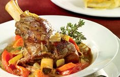 Roasted lamb shank Holiday Main Course Recipe — Christmas