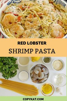 Are you looking for a quick and easy shrimp pasta dish? This may be the perfect one for you. This recipe is a light and easy dish to make. The sauce is lighter than your traditional alfredo sauce. Shrimp Pasta Dishes, Seafood Dishes, Red Lobster Shrimp, Copykat Recipes, Outback Steakhouse, Alfredo Sauce, Restaurant Recipes, Shrimp Recipes, Are You The One