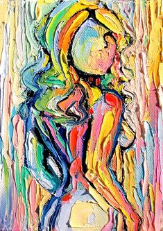 Femme 163 - 18x24 abstract nude signed Lustre print reproduction by Aja ebsq