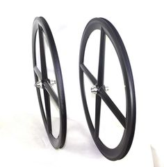 Carbon fiber 4 spoke wheel for fixed bike #fixie #fixedgear#carbon #carbonfiber #carbonwheels
