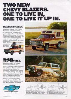 1976-77 Chevy Blazer/Blazer Chhalet ad.