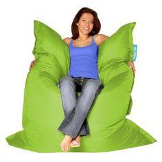BAZAAR BAG ® - Giant Beanbag LIME GREEN - Indoor & Outdoor Bean Bag - MASSIVE 180x140cm. £57.99
