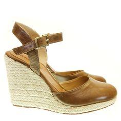 Sandália Anabela Amendoa 3371   Moselle sapatos finos femininos! Moselle sua boutique online.