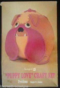 "Springbok Puppy Love Precious 9 1 2"" Bulldog Bull Dog Craft Kit Vintage 1970 New   eBay"