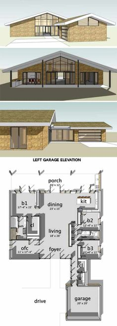 Build an Eichler ranch house   8 original design house plans     8 Cliff May inspired ranch house plans from Houseplans com