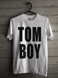 Men's TOMBOY Shirt Handmade T-Shirt #1195 by Expression Tees Trending Clothing / Apparel Usa Seller