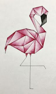Geometric flamingo watercolor Geometric flamingo watercolor The post Geometric flamingo watercolor & Aquarell appeared first on Geometric paint . Cool Art Drawings, Pencil Art Drawings, Art Drawings Sketches, Easy Drawings, Drawing Art, Paris Drawing, How To Draw Flamingo, Flamingo Art, Flamingo Drawings
