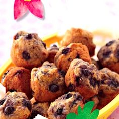 Recipe: Swiper's Blueberry Hill Muffins (mini muffins, using yogurt ...