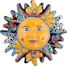 Mexican Tile - N. 1 Ceramic Mexican Talavera Sun