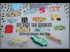 DIY Page Tab Dividers | Different Ways | Make Your Own | USE YOUR PAPER ... Make Your Own, Make It Yourself, How To Make, Envelope Punch Board Projects, Journal Paper, Junk Journal, Page Dividers, Paper Scraps, Thing 1
