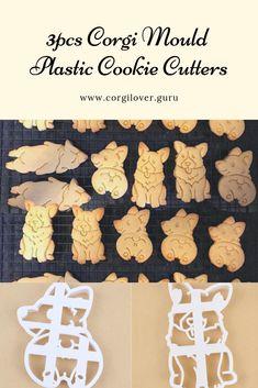 978e72184b3a This 3pcs Corgi mould plastic cookie cutters set is a unique gift for corgi  lovers who