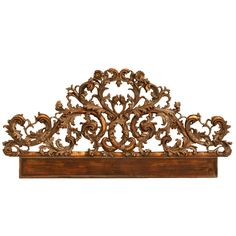 Exquisite Antq. Italian Carved & Gilded Organic Relief/Headboard 1st dibs