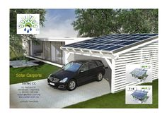 Solar carport to generate energy yourself. In a carport, a shed or an attic can be integrated. There are wooden carports, Sta . Solar Energy Panels, Solar Panels For Home, Best Solar Panels, Solar Energy System, Solar Power, Solar Energy For Home, Solar Carport, Pergola Carport, Enclosed Carport