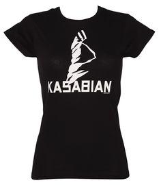 Ladies Black #Kasabian Ultra Black T-Shirt xoxo