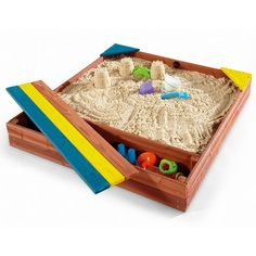 Build stately sand castles, construct towering turrets and don't forget to dig out the moat! Plum's Store-it Wooden Sand Pit is perfect for encouraging traditional sand play. With a built-in storage Sandbox Cover, Kids Sandbox, Sandbox Ideas, Sandpit Toys, Fun Games For Toddlers, Wooden Sandbox, Sand Play, Water Play, Thing 1