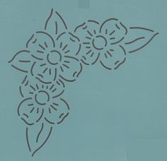 "Dogwood Bouquet 4.5"" - The Stencil Company"